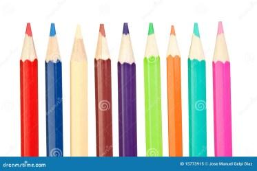 vertical pencils sharp colored