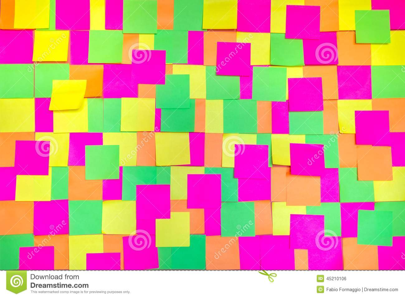colored post it notes