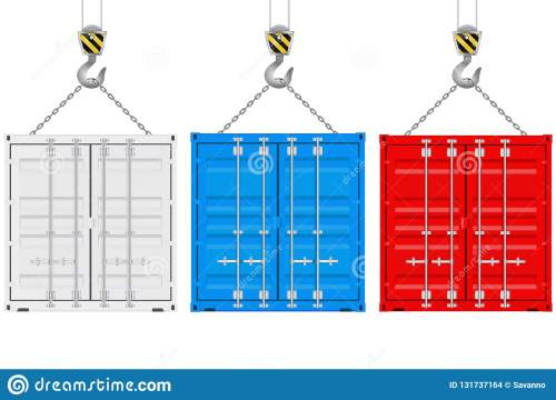 small resolution of colored shipping containers on a crane hook