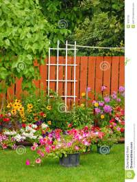 Colorful Backyard Garden Royalty Free Stock Photo - Image ...