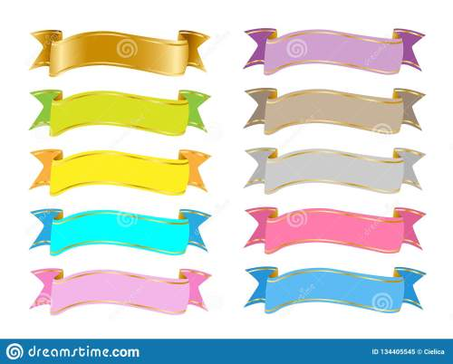 small resolution of colorful banners ribbons clip art vector clipart eps svg party elements rainbow colorful banner images