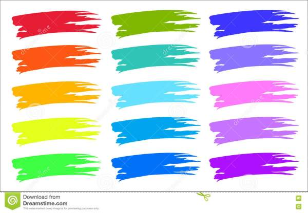 Colorful Brush Strokes Color Samples. Stock Vector - 78373911