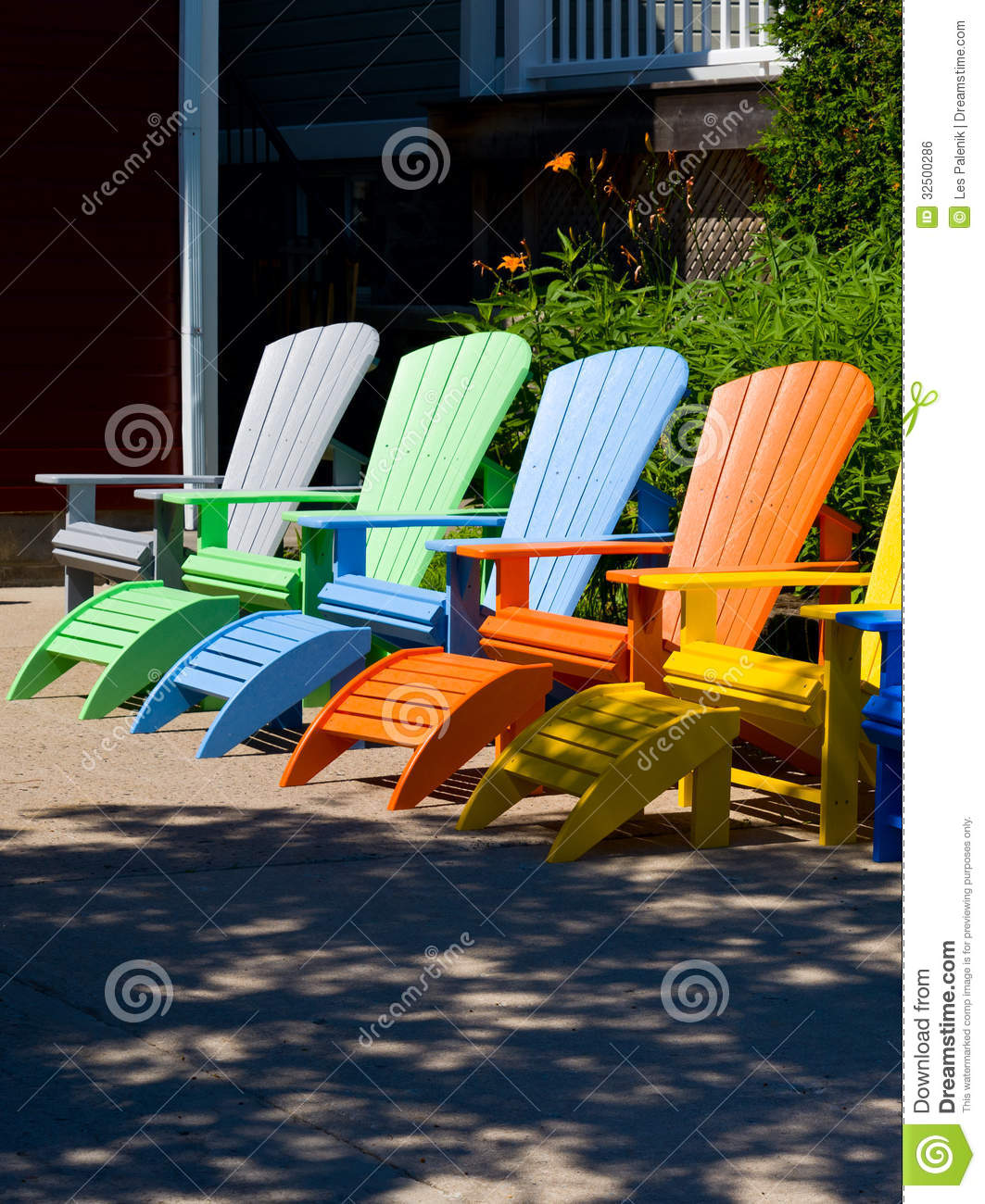 Colorful Wooden Chairs Colorful Chairs Royalty Free Stock Image Image 32500286