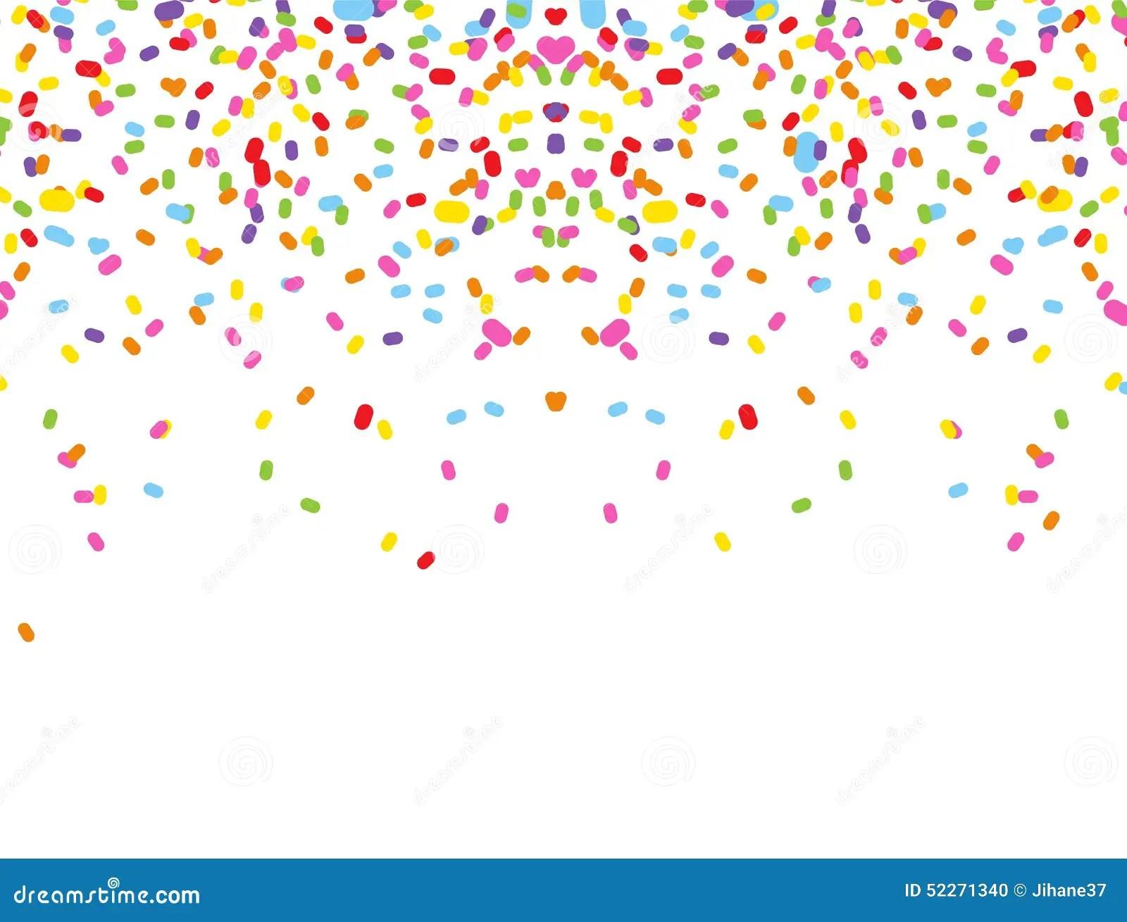 Falling Stars Gif Wallpaper Colorful Confetti On White Background Stock Illustration