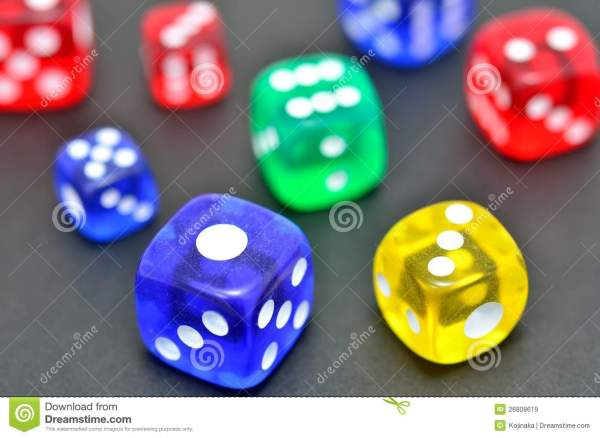 Colorful Dice Royalty Free Stock - 26808619