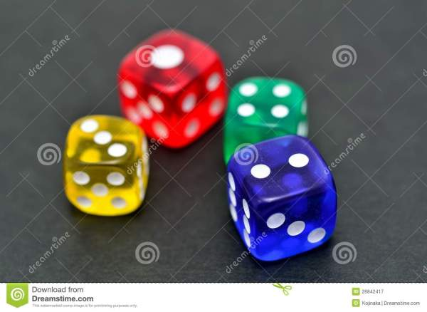 Colorful Dice Royalty Free Stock - 26842417