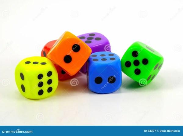 Colorful Dice Stock Of Casino Vegas Play