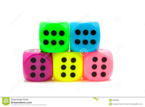 Colorful Dice Royalty Free Stock - 9648666