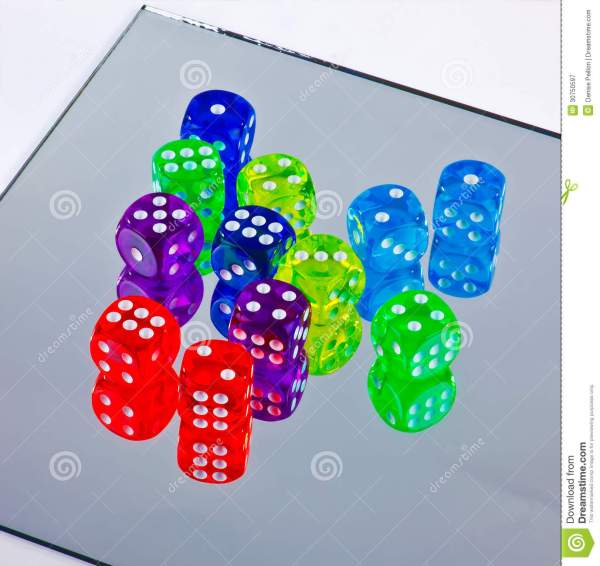 Colorful Dice Royalty Free Stock - 30750597
