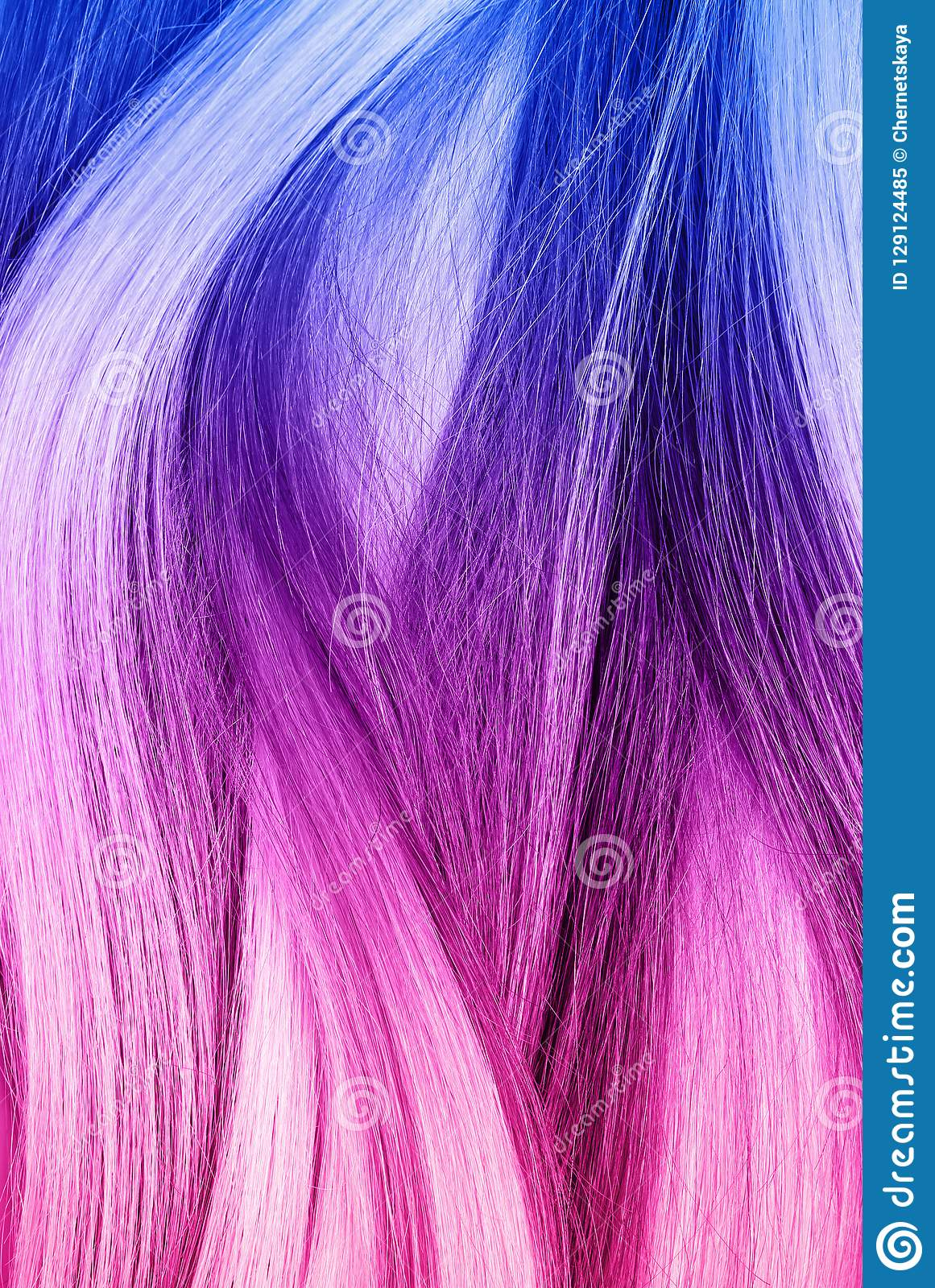 colorful dyed hair top