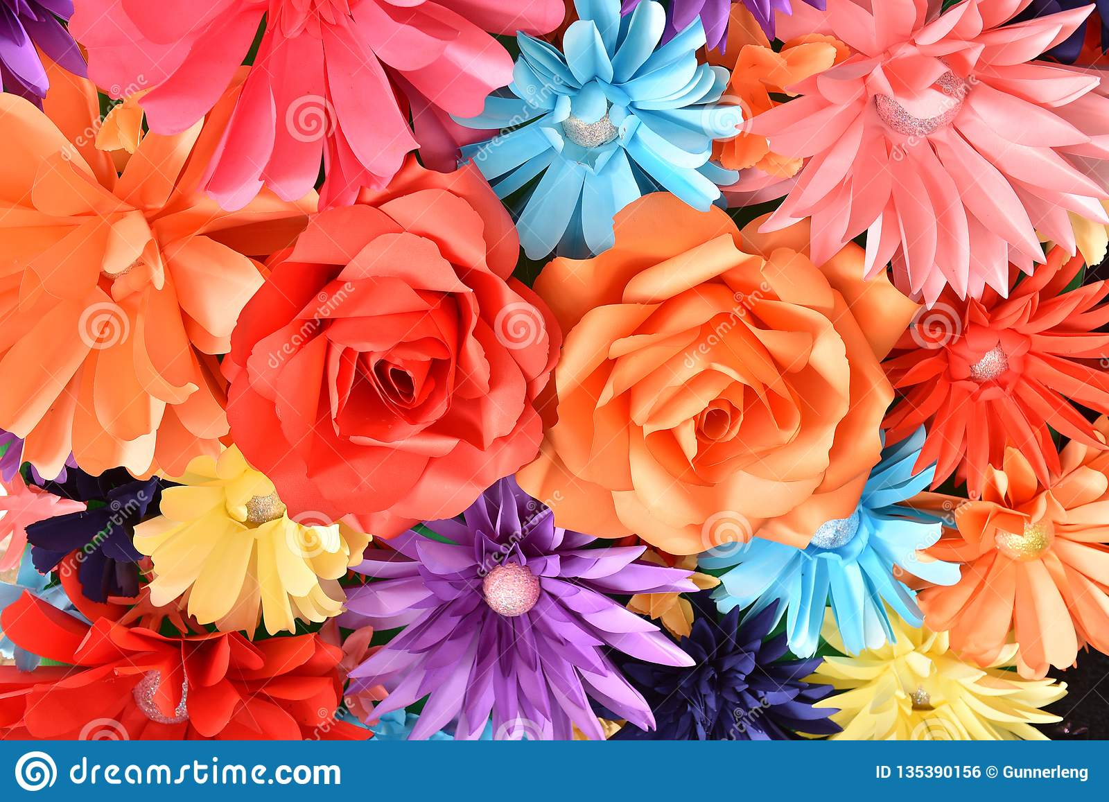 https www dreamstime com colorful flowers background texture many beautiful handmade paper flowers design love concept valentine wedding image135390156