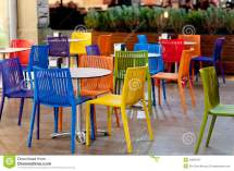 Colorful Garden Cafe Royalty Free Stock