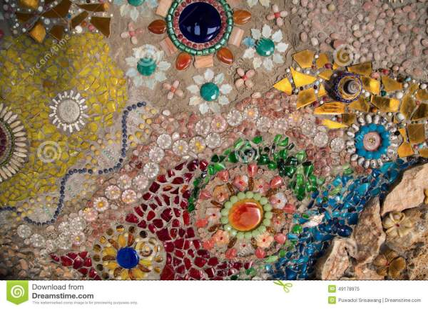 Abstract Glass Mosaic Wall Art