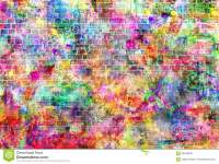 Colorful Grunge Art Wall Illustration, Urban Art Wallpaper ...