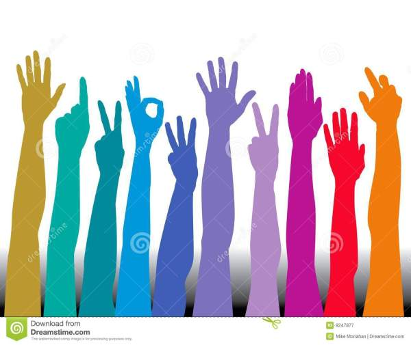 Colorful Hands stock vector Image of communication