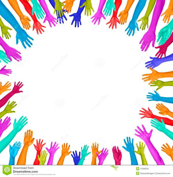The gallery for gt Colorful Hands Clipart