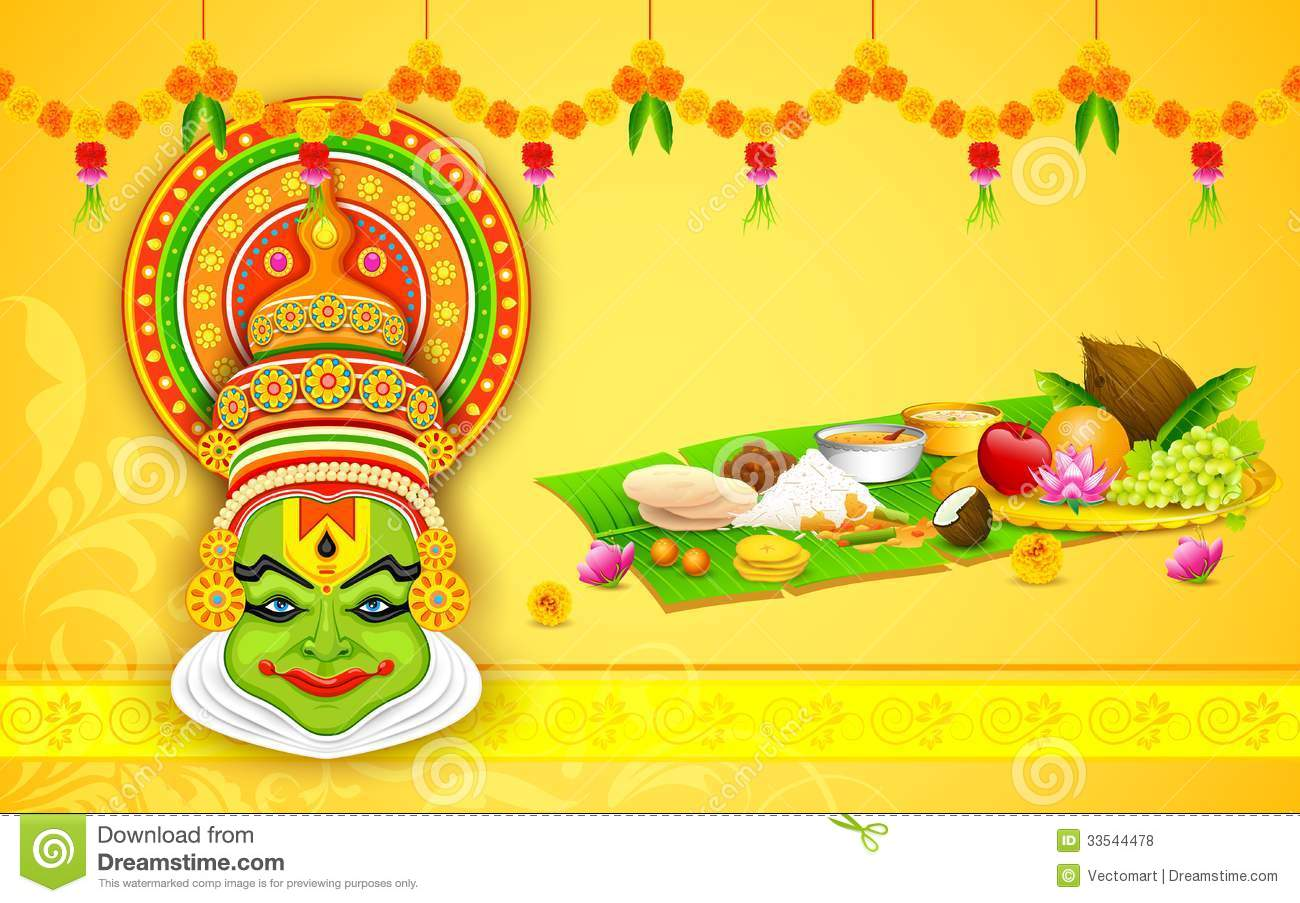 Onam Wallpapers Hd Colorful Kathakali Face Stock Vector Illustration Of