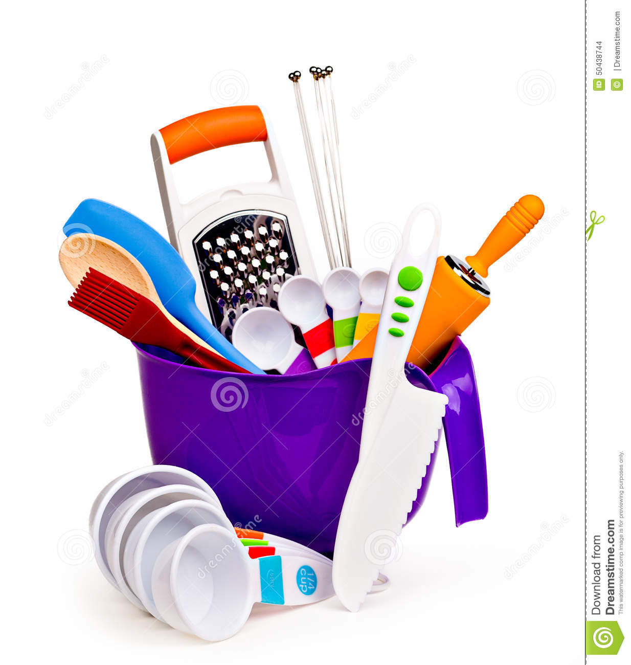 Colorful Kitchen Tools Stock Photo Image Of Grater Measuring