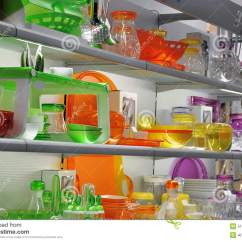 Kitchen Supplies Store Mission Style Table Colorful Kitchenware Stock Photo Image 51602407