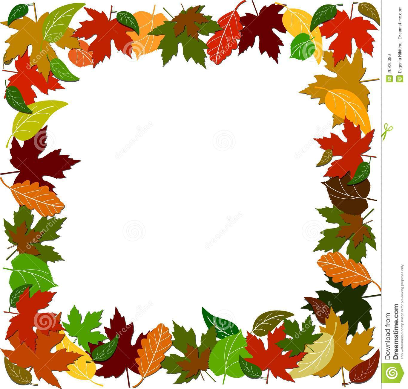 Maple Leaf Wallpaper For Fall Season Colorful Leaf Border Stock Vector Illustration Of Leafy