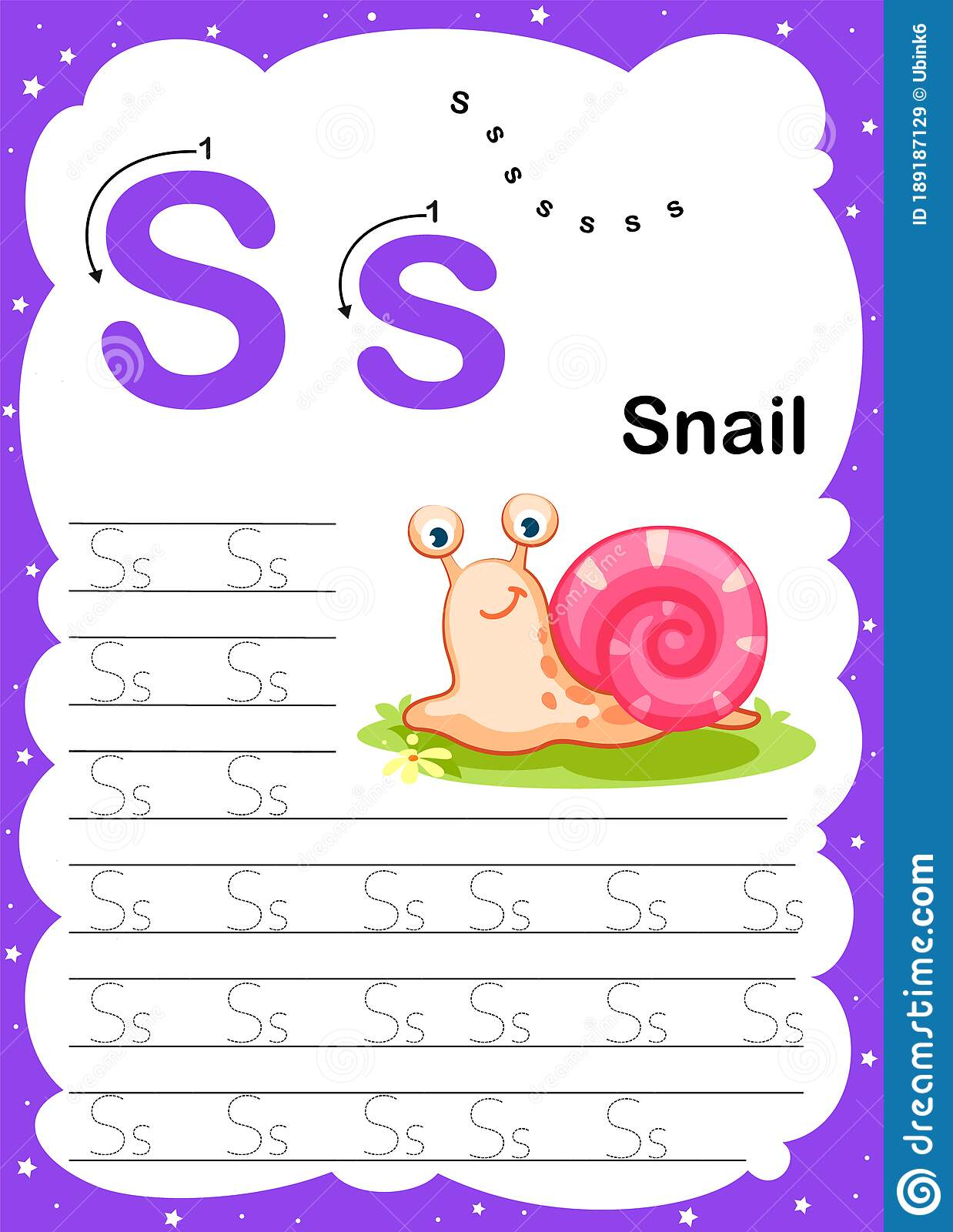 Colorful Letter S Uppercase And Lowercase Alphabet A Z
