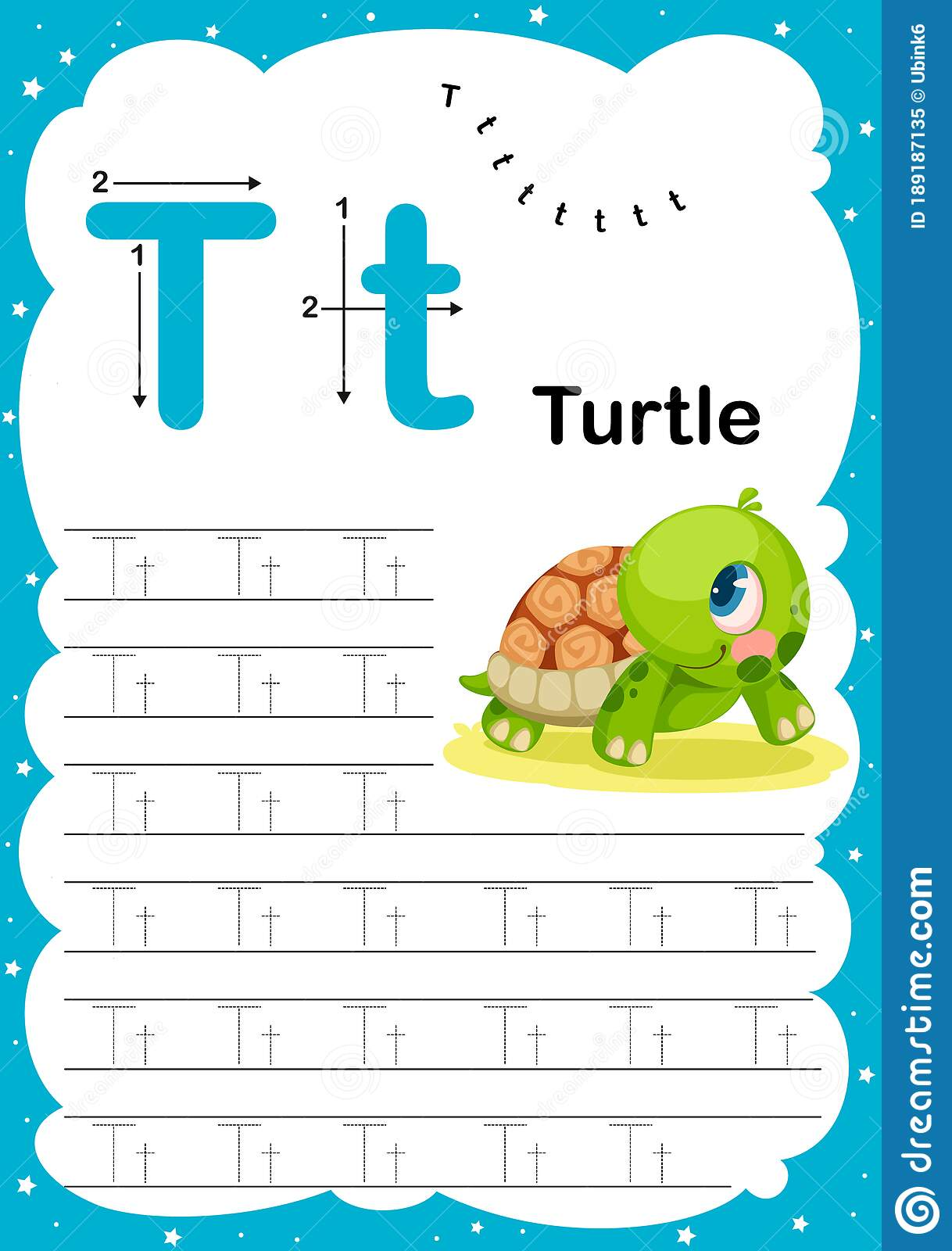 Colorful Letter T Uppercase And Lowercase Alphabet A Z