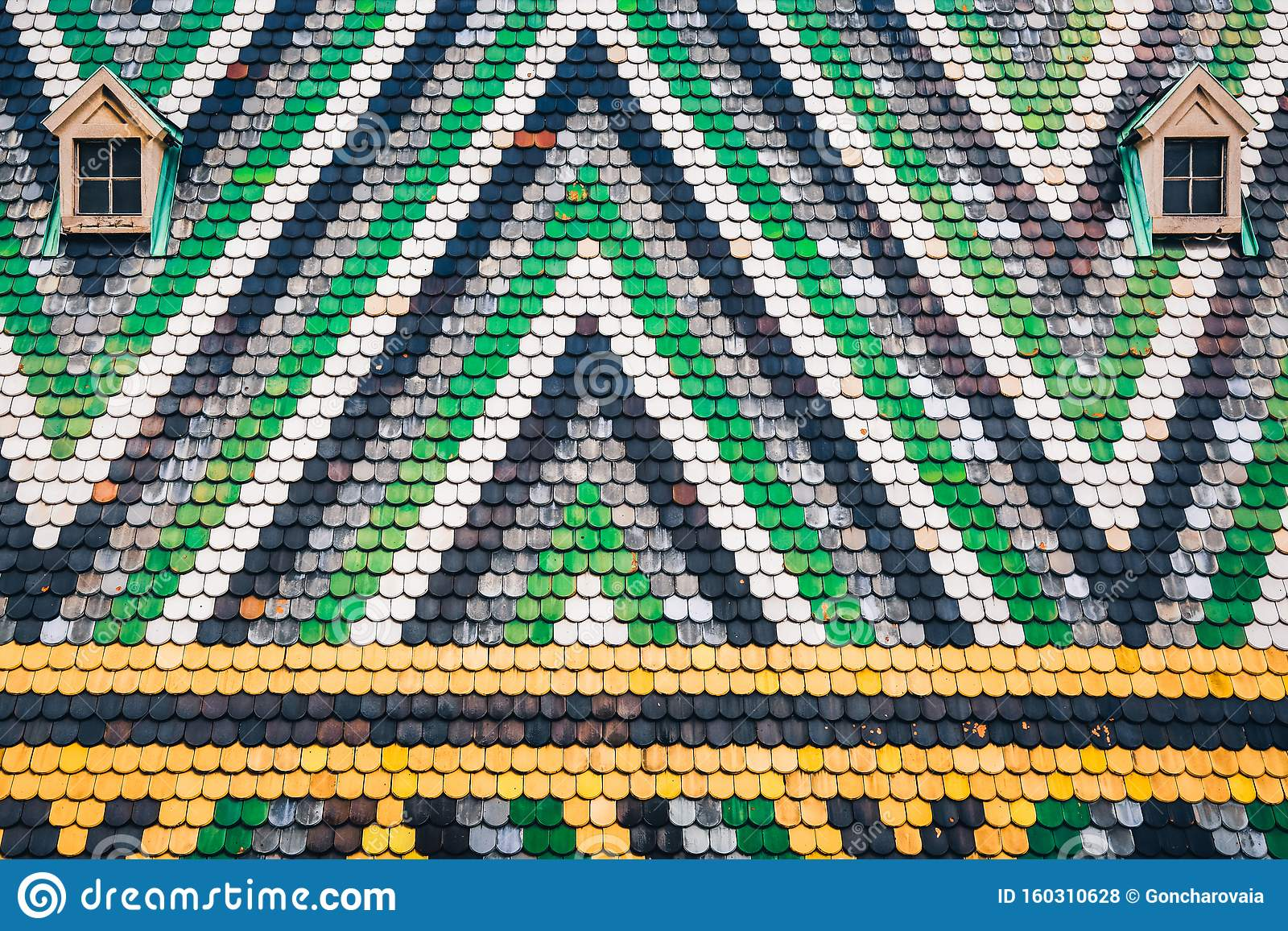 https www dreamstime com colorful mosaic tile roof background multi coloured st stephen s cathedral vienna austria image160310628