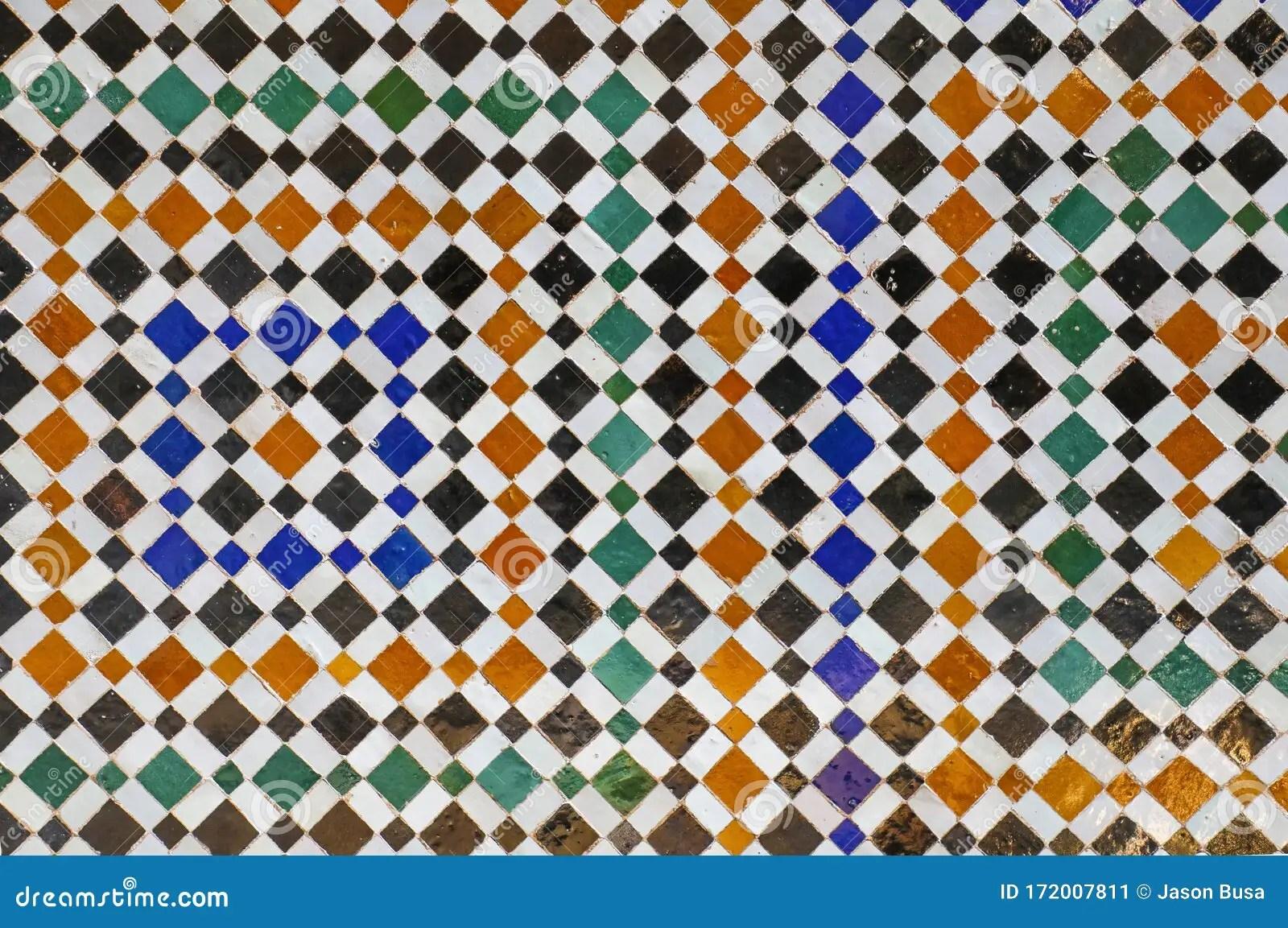 https www dreamstime com colorful mosaic tiles blue green yellow white seamless geometric pattern image172007811