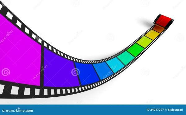 Colorful Negative Film Strip Stock Illustration