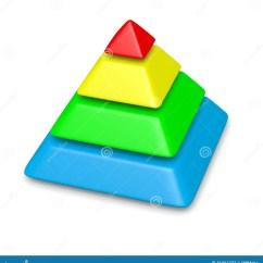 Blank Pyramid Diagram 5 Honda 400ex Wiring Colorful 4 Levels Stack Stock Illustration Image