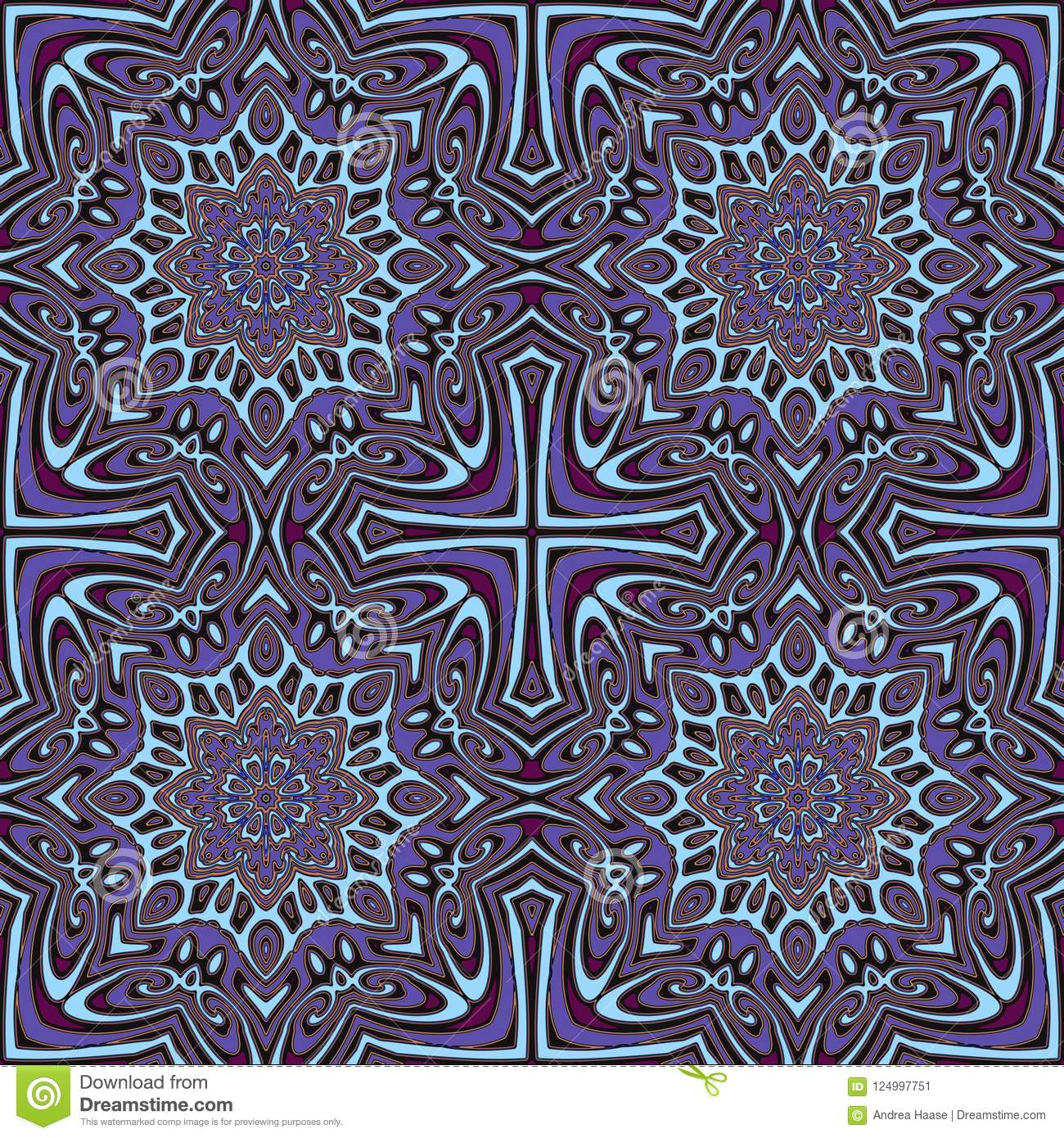 https www dreamstime com colorful seamless pattern tile moroccan style purple aqua textile ceramic tiles wallpaper fabric scrapbook gift wrapping image124997751