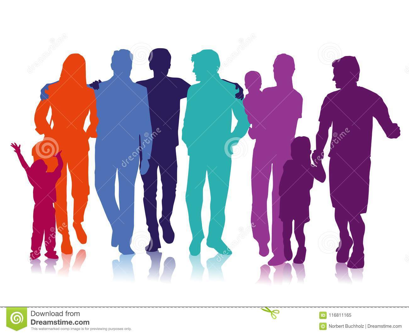 Friends And Family Stock Vector Illustration Of Artwork