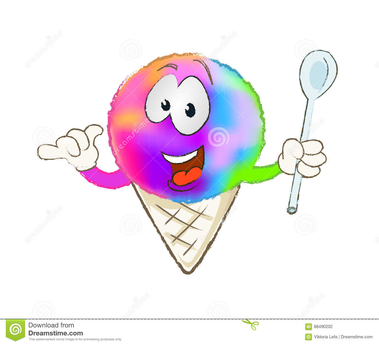 hight resolution of colorful snow cone