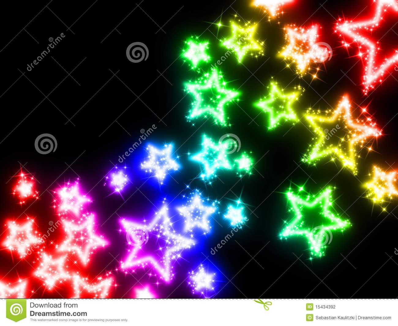 3d Rainbow Wallpaper Download Colorful Stars Stock Photography Image 15434392