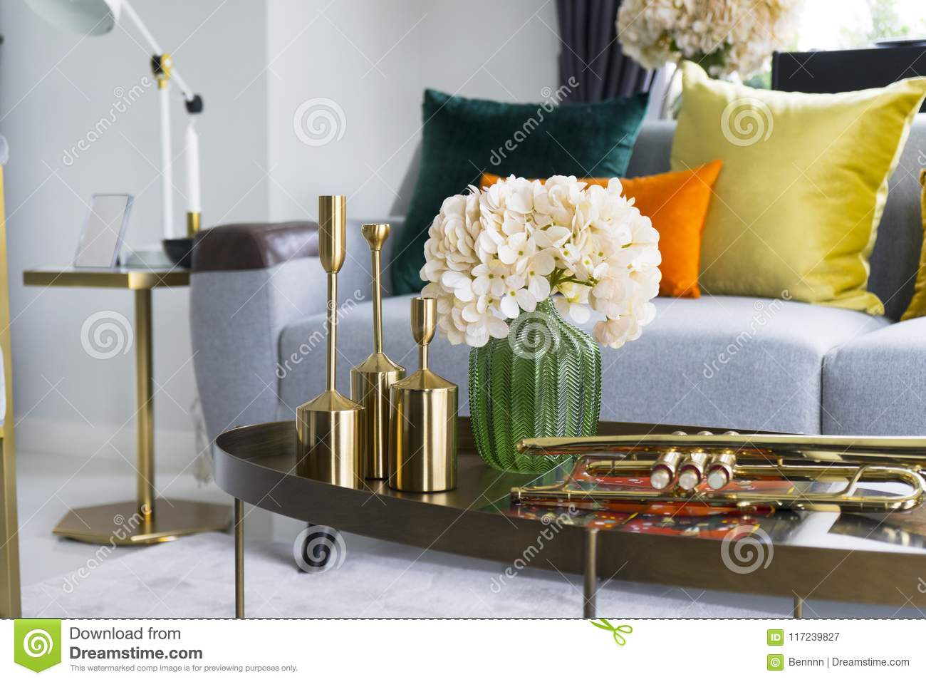 living room flower vases entire furniture sets colorful and stylish with vase stock image