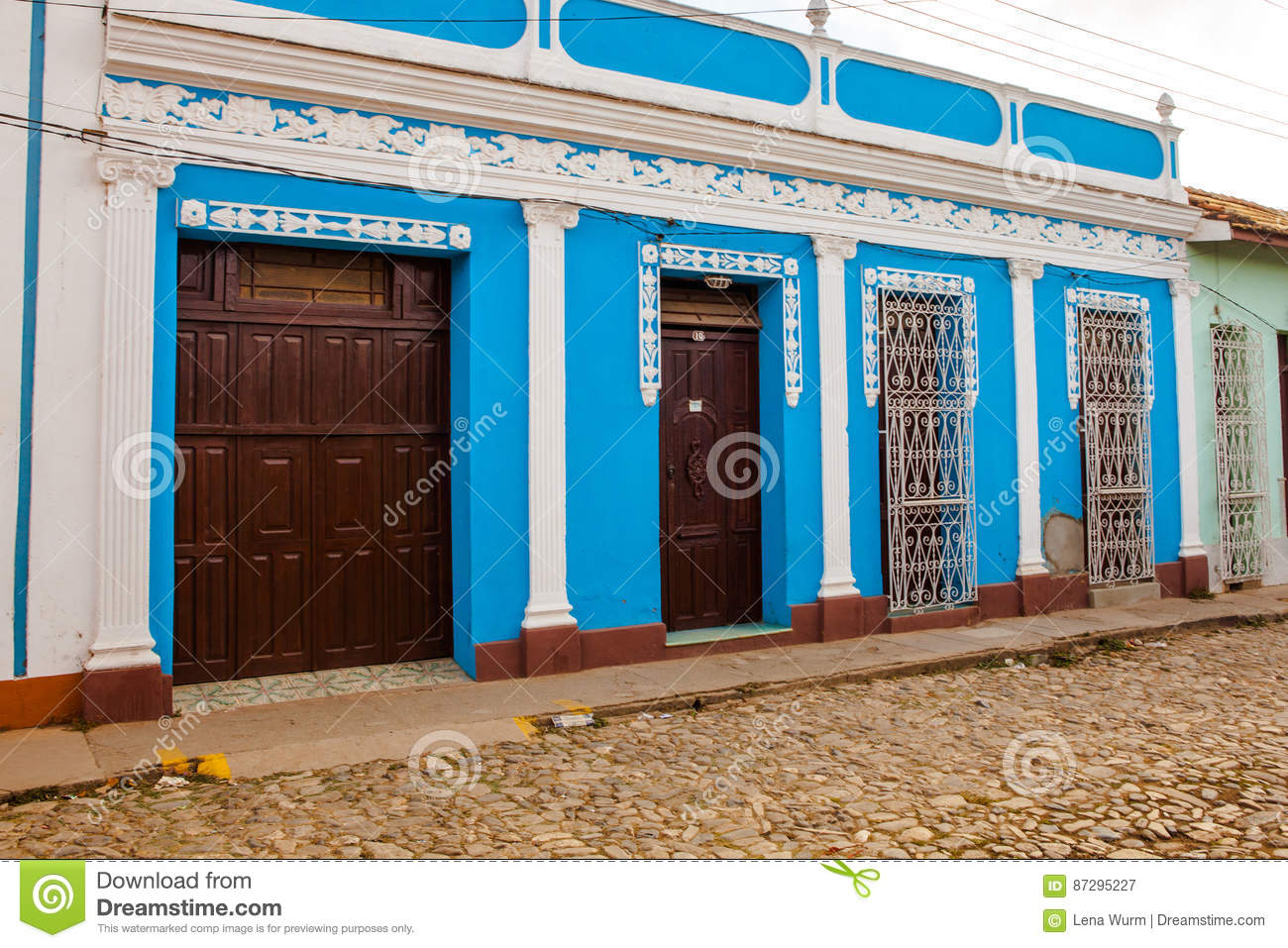 Casa Particular Cuba Trinidad Colorful Traditional Casa In The Colonial Town Of Trinidad Cuba