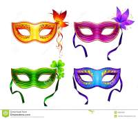Colorful Vector Carnival Masks Set Stock Vector - Image ...