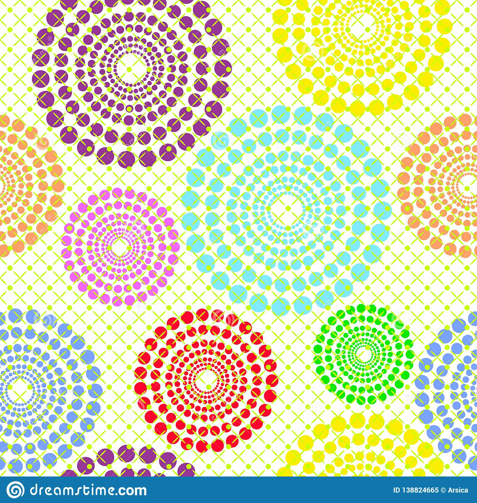 colorful vector pattern with