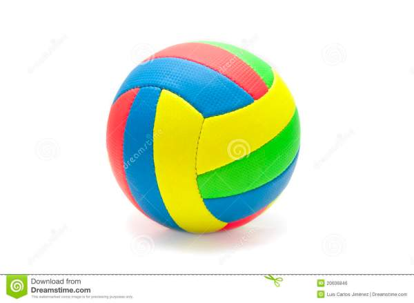 Colorful Volleyball Stock Of Color Isolated