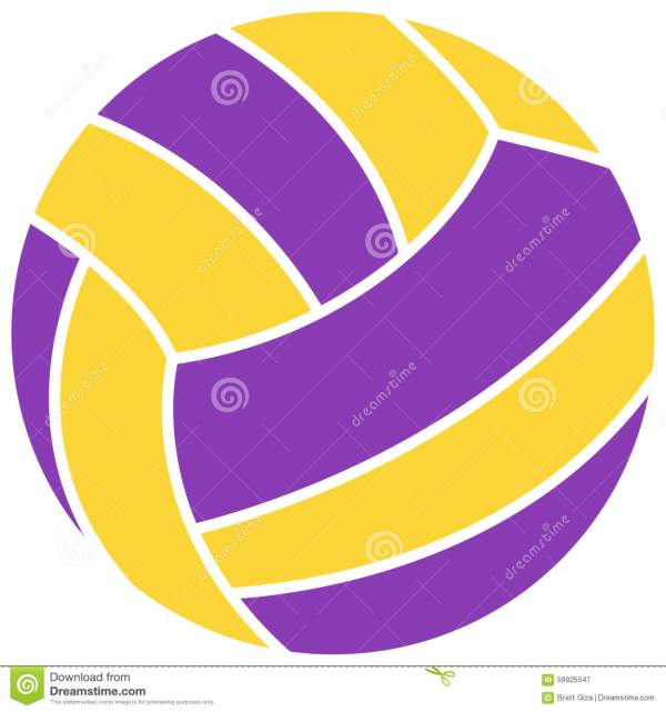 Royalty Free Stock Colorful Volleyball