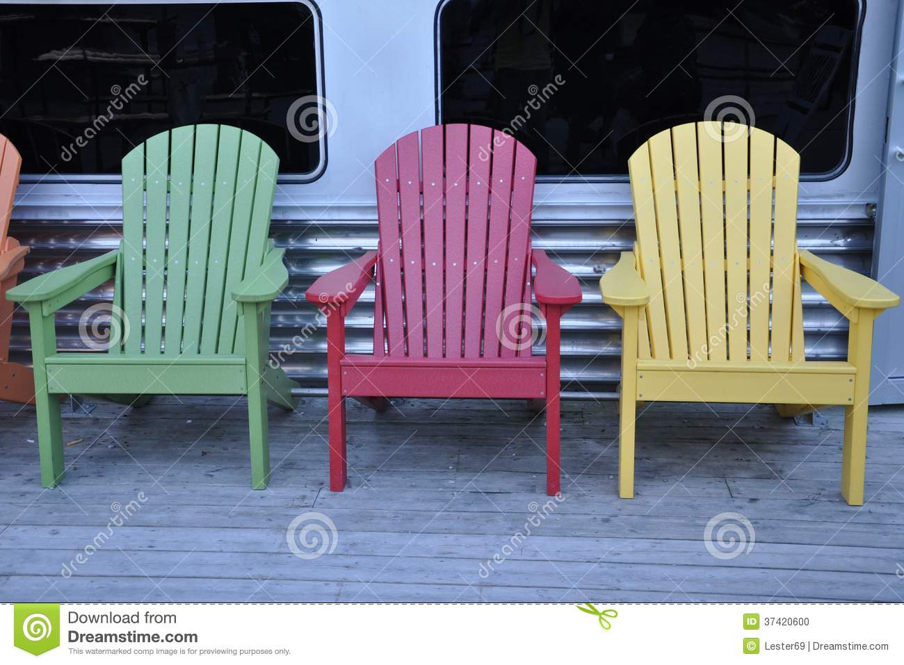 Colorful Wooden Chairs Colorful Wooden Chairs Stock Photo Image Of Craft