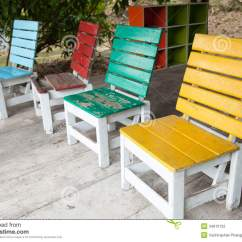 Small Wooden Chair Mid Century Modern Dining Colorful Chairs Stock Photography Image 34610132