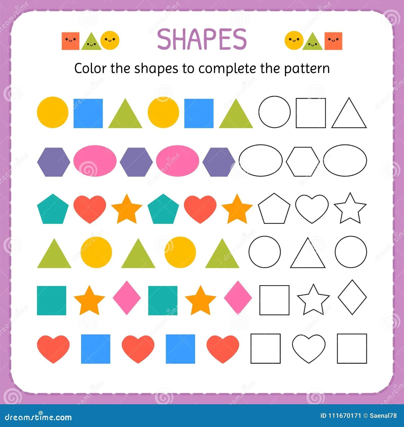 Colori Le Forme Per Completare Il Modello Impari Le Forme