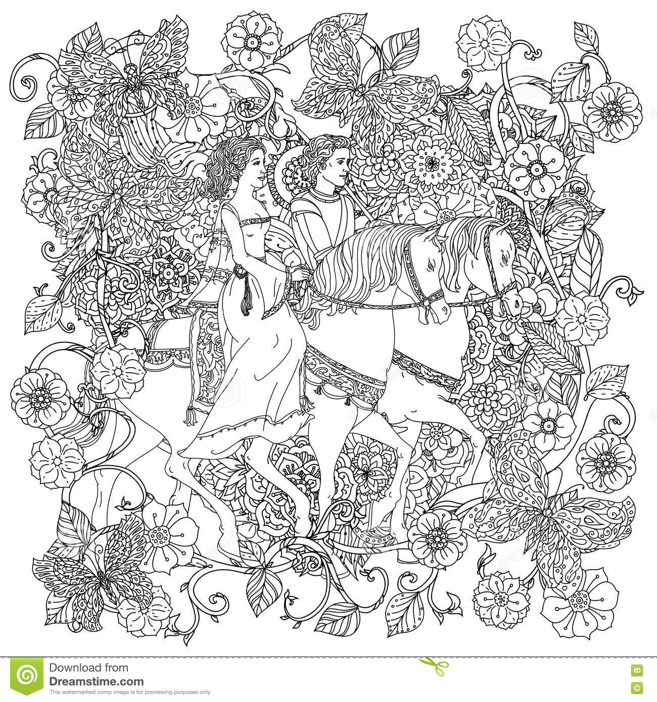 Bride Coloring Page Adult Adult Coloring Pages Women 1905077