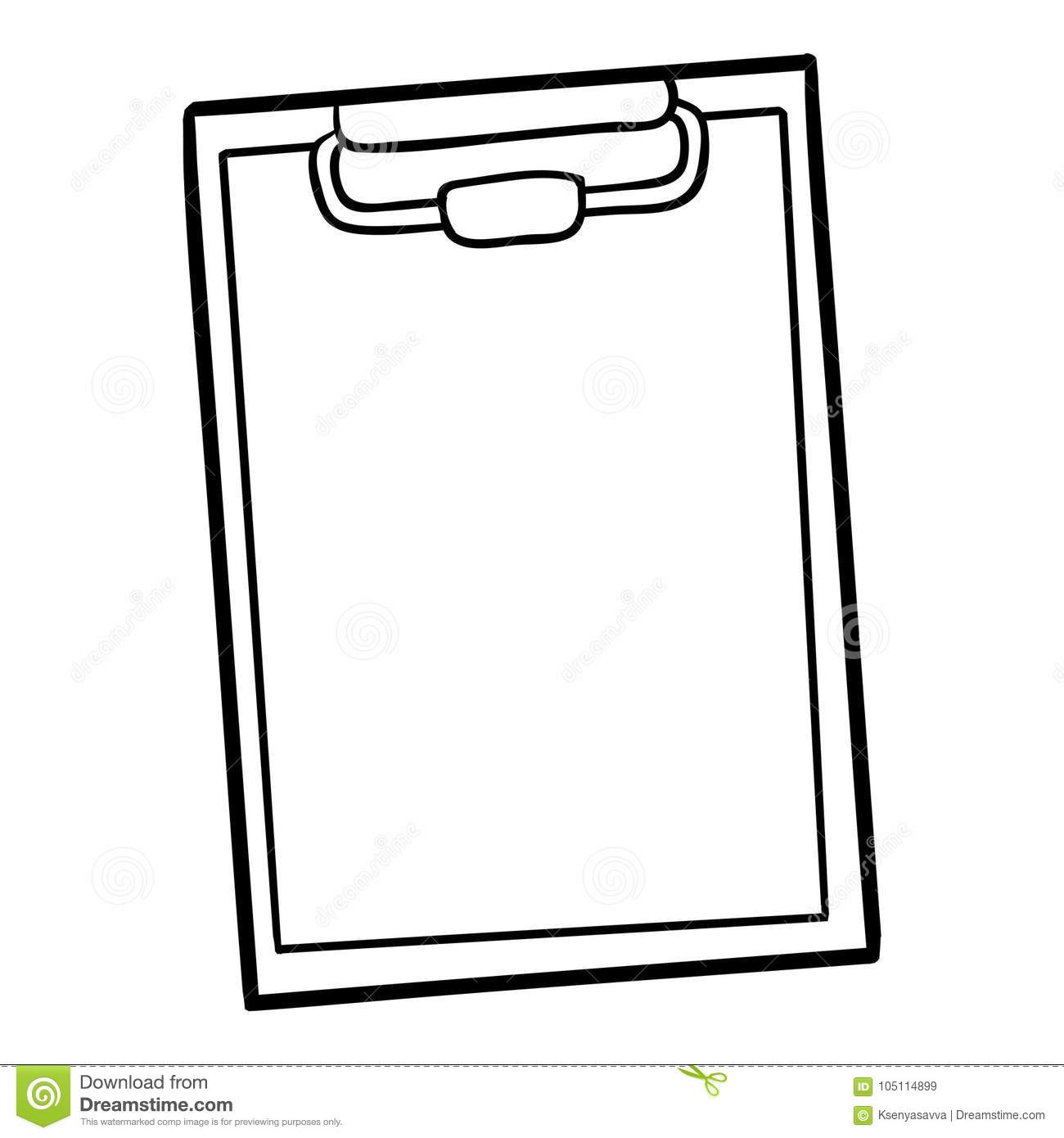 Coloring Book Clipboard Stock Vector Illustration Of