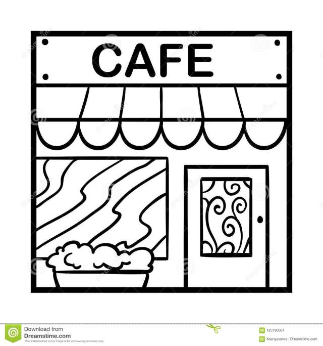 Coloring Book Cafe Stock Illustrations – 13,6132 Coloring Book Cafe