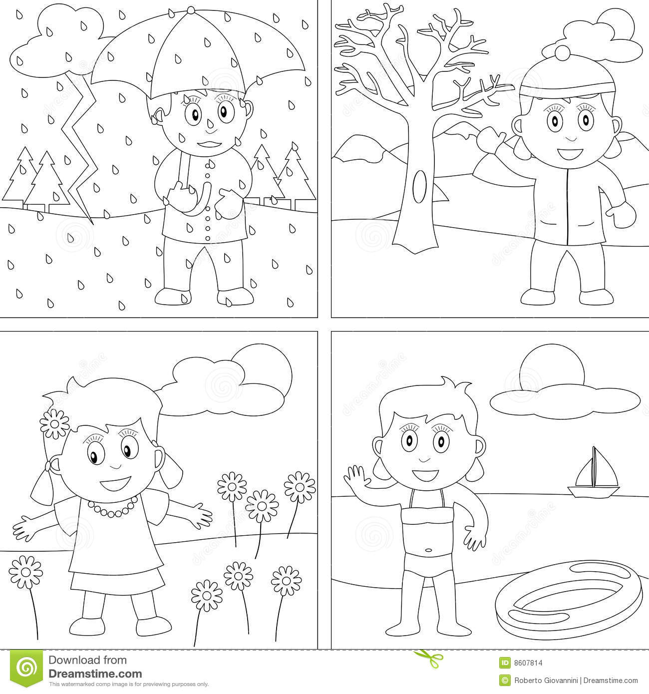 Coloring Book For Kids 28 Stock Vector