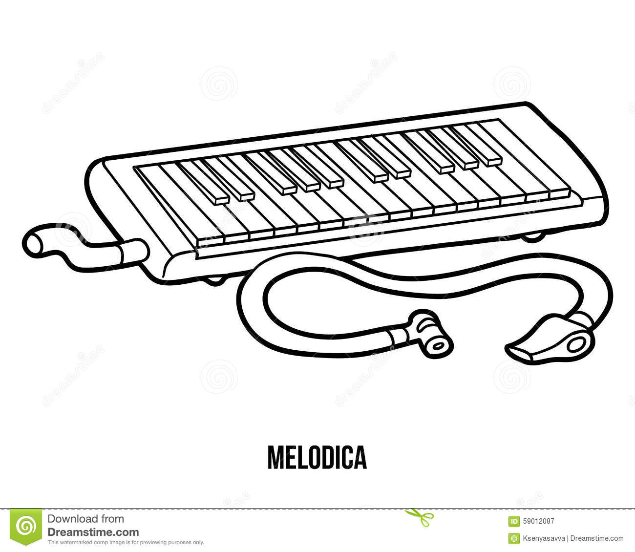 A Set Of Musical Melodica On White Background Vector