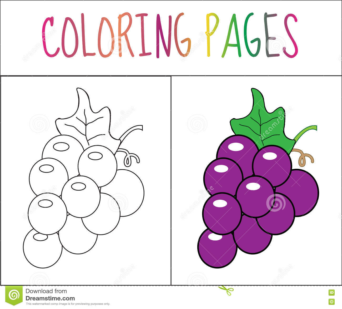 Coloring Book Page G S Sketch And Color Version