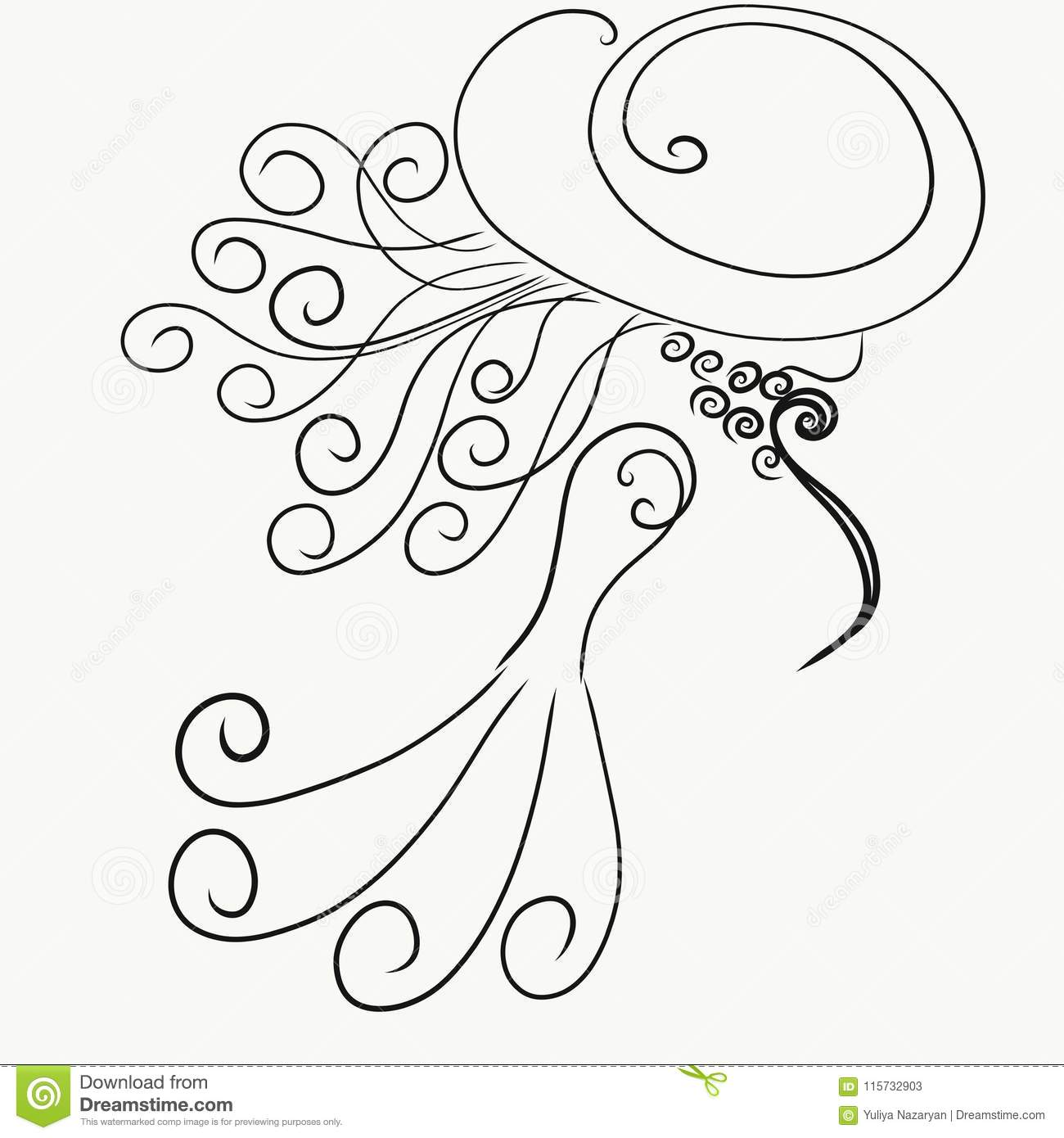 Silhouette Lady Hat Stock Illustrations